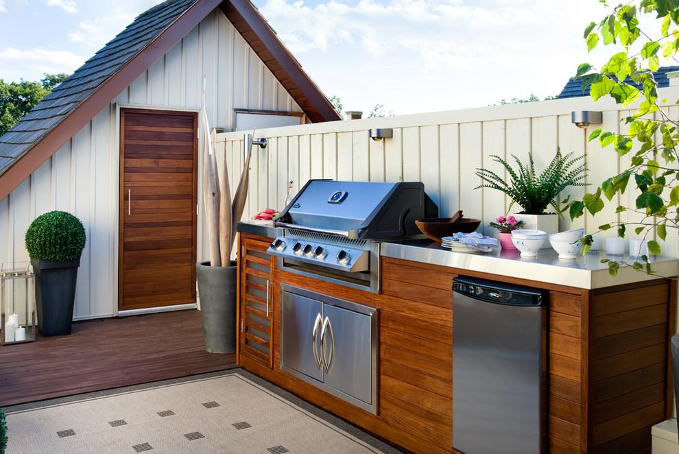 Rooftop Garden as a Comfortable Outdoor Kitchen