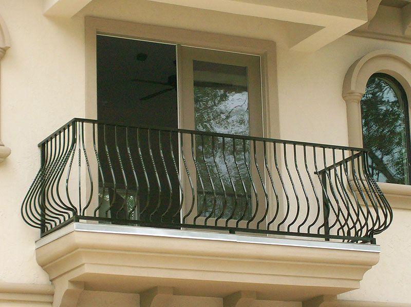 Curved Black Steel Railing