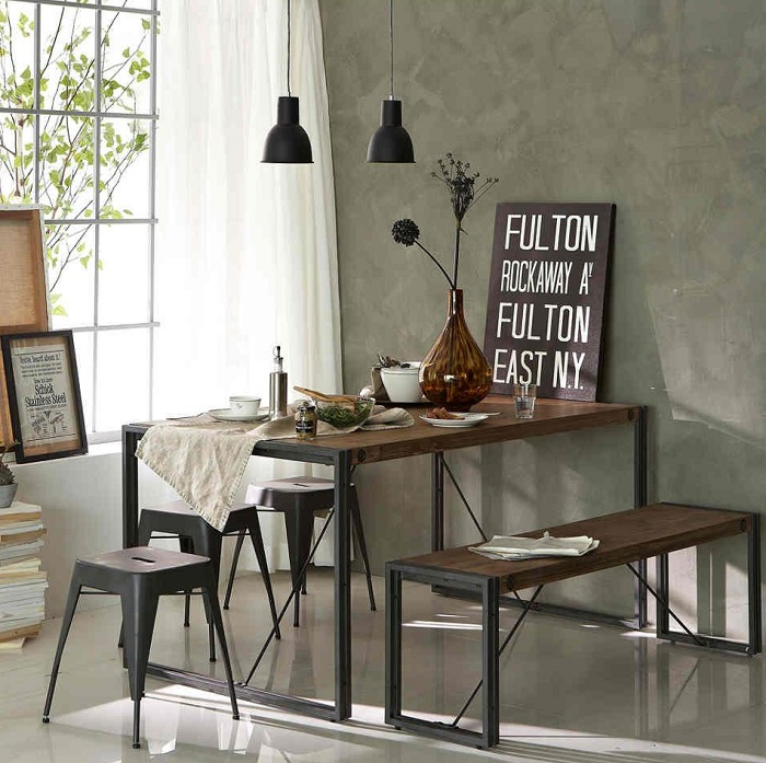 Industrial Small Dining Room