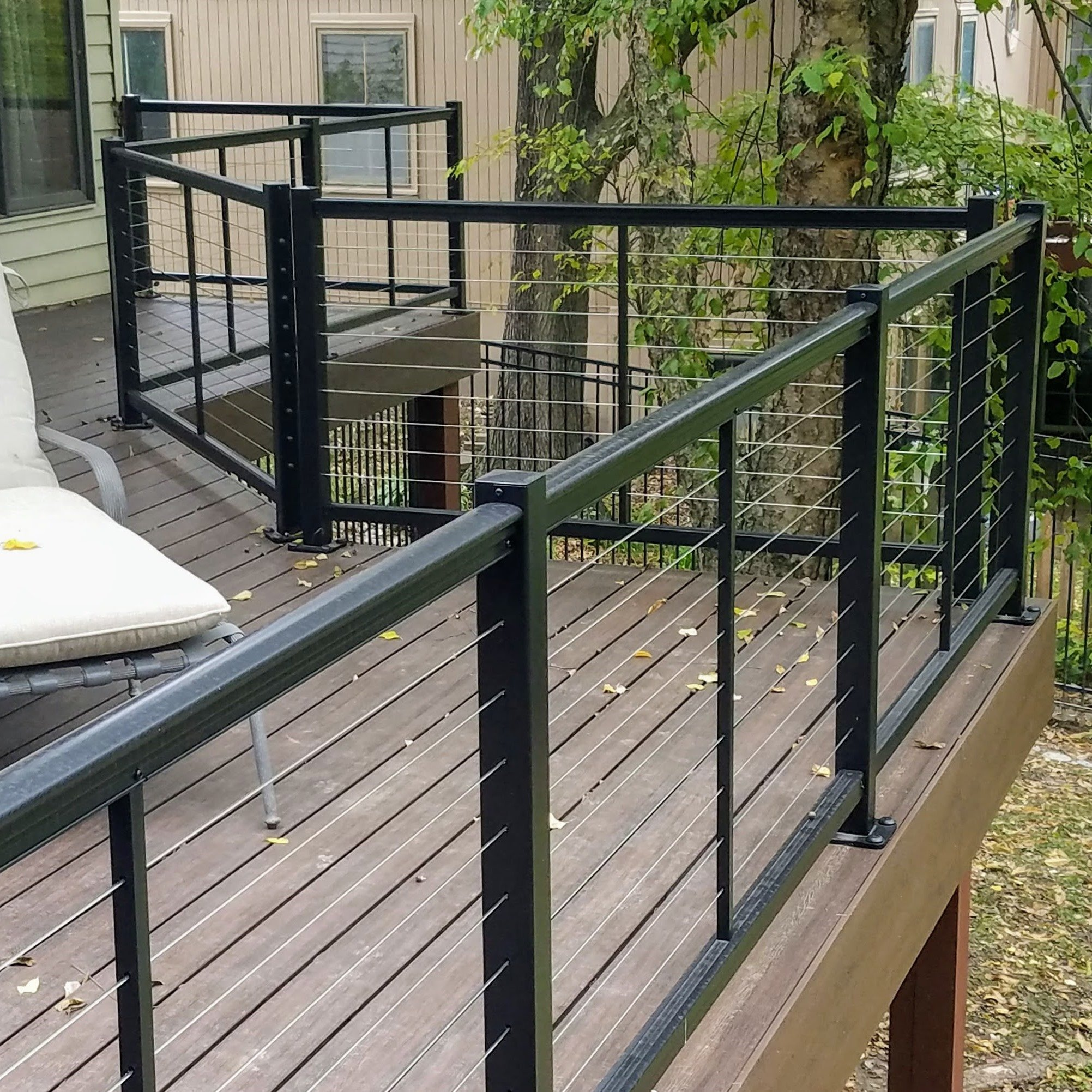 Railing with Stainless Wire Blend
