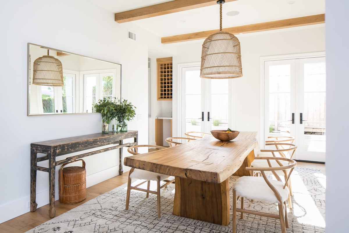 Rustic Small Dining Room