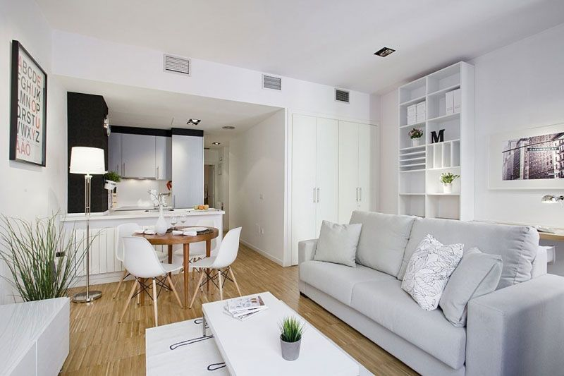 Small Dining Room in Open Space Concept