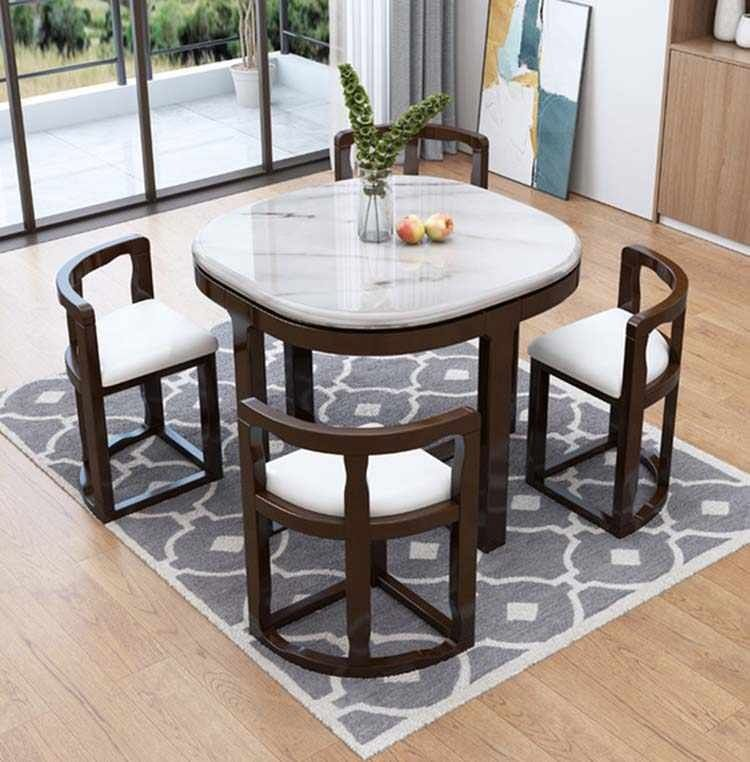 Small Dining Room with Marble Table