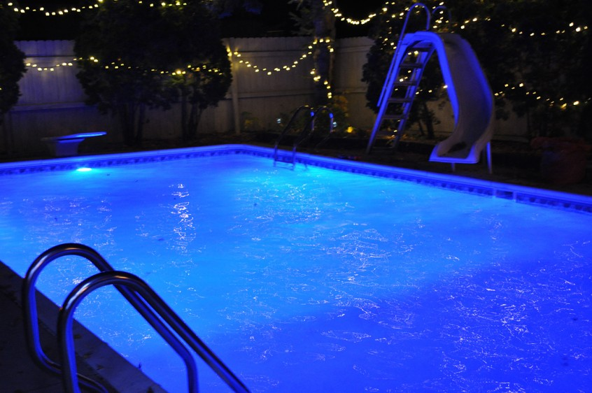 Treating Swimming Pools with Ultraviolet Lights