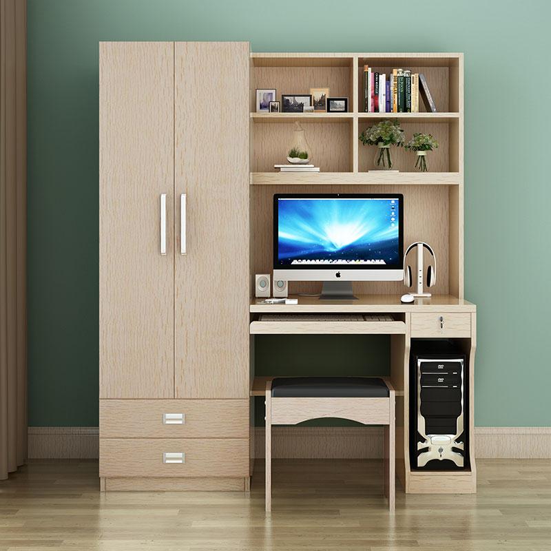 Computer Desk Integrates with Wardrobe