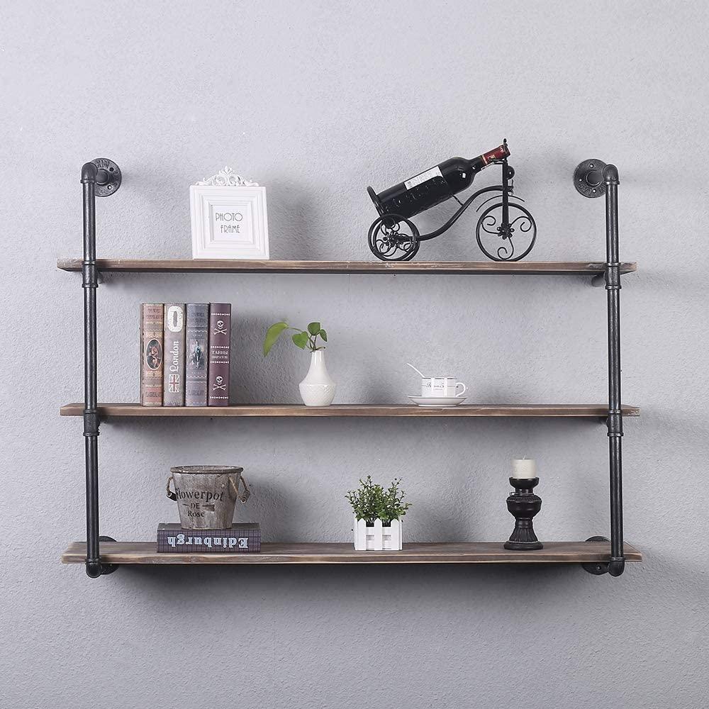 Industrial Hanging Shelves