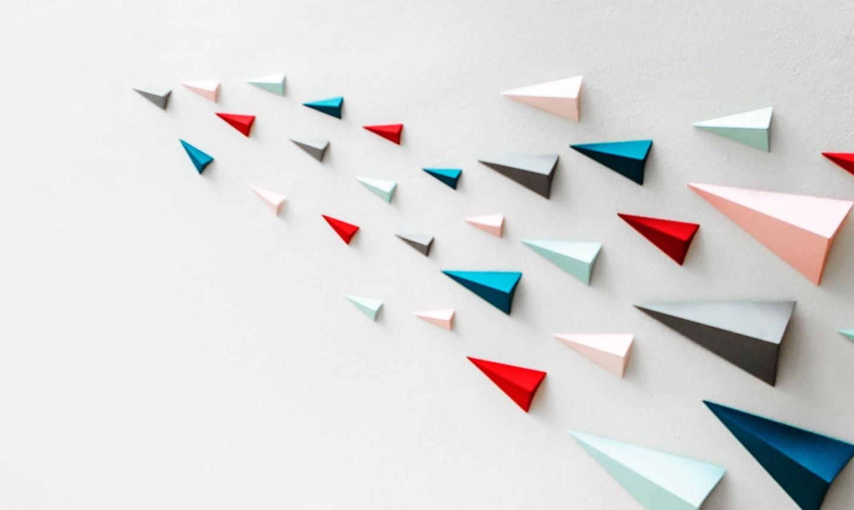 Minimalist Airplane Shape Origami