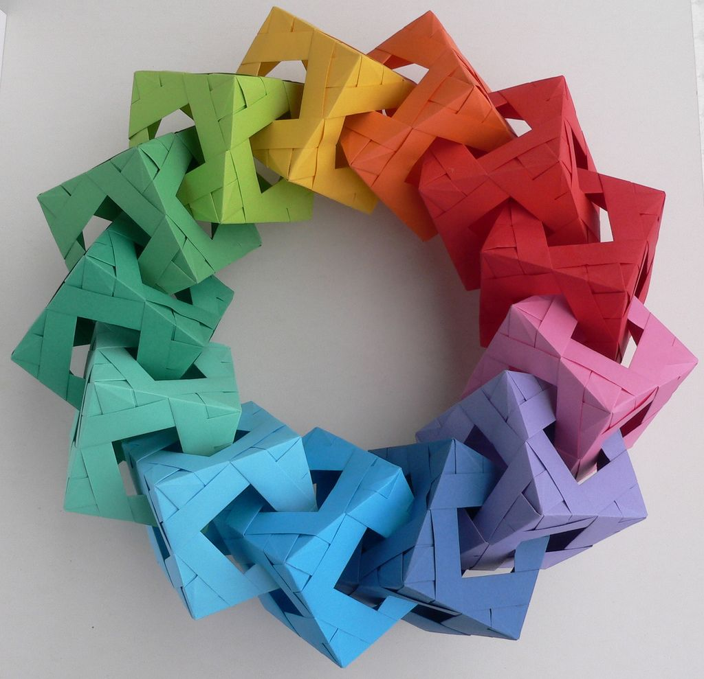 Origami Forming Circle or Wreath