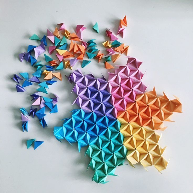 Origami Wall Art Style