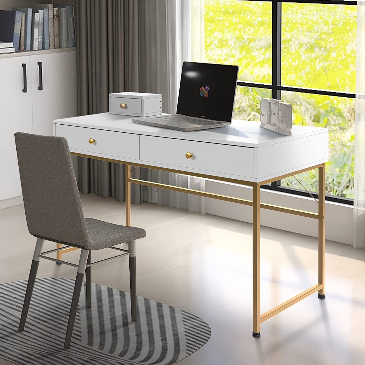 Simple Computer Desk with Drawers