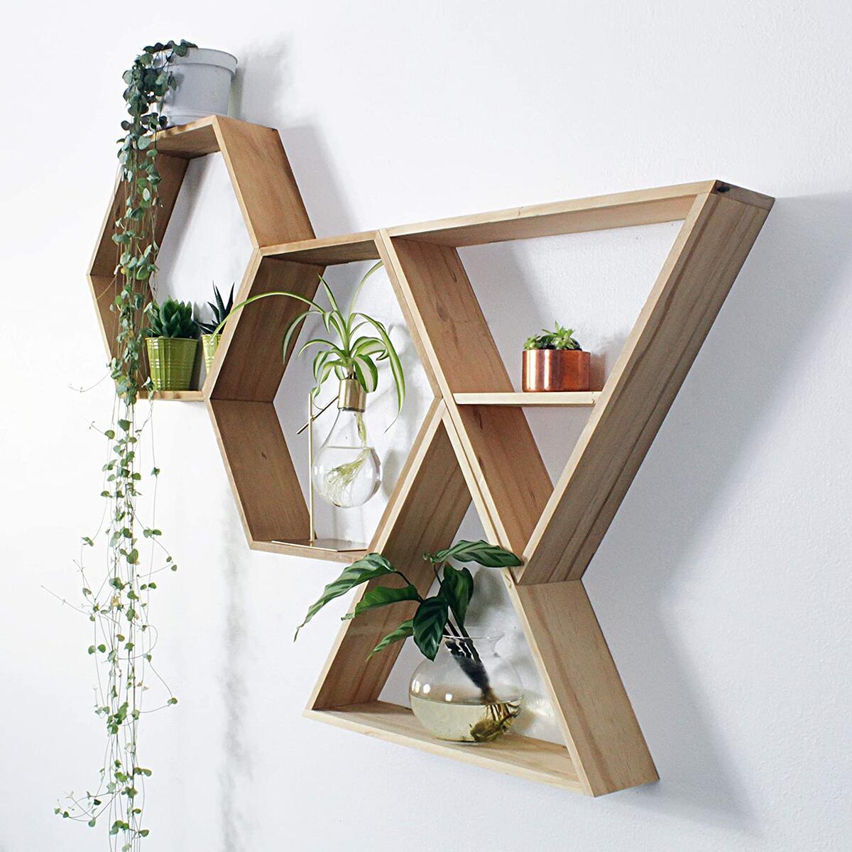 Unique Hanging Shelves for Bedroom