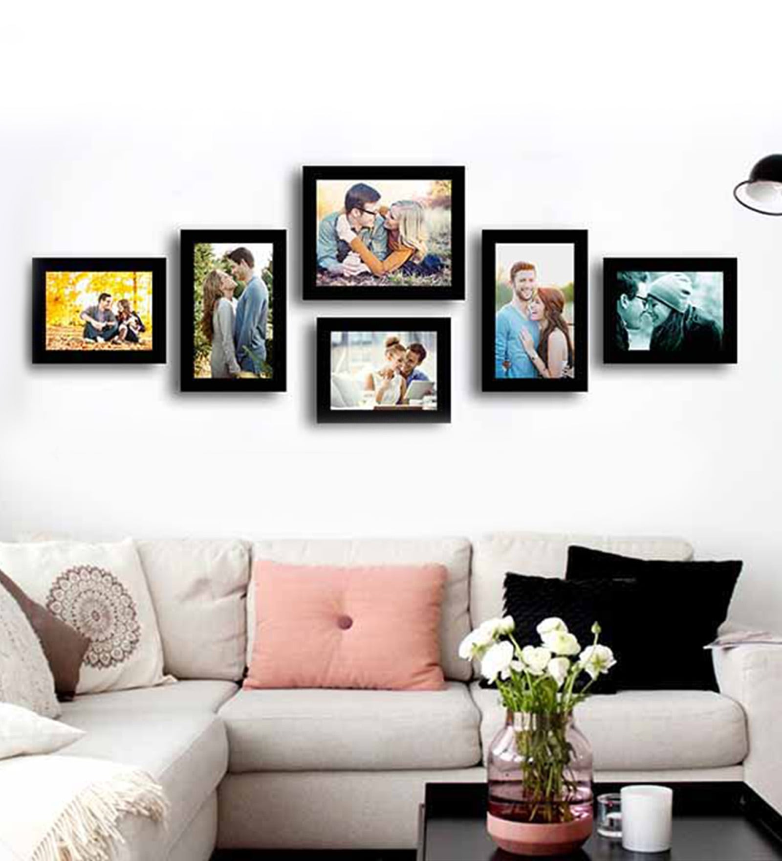 Unique Wall Decoration from Photo Frames