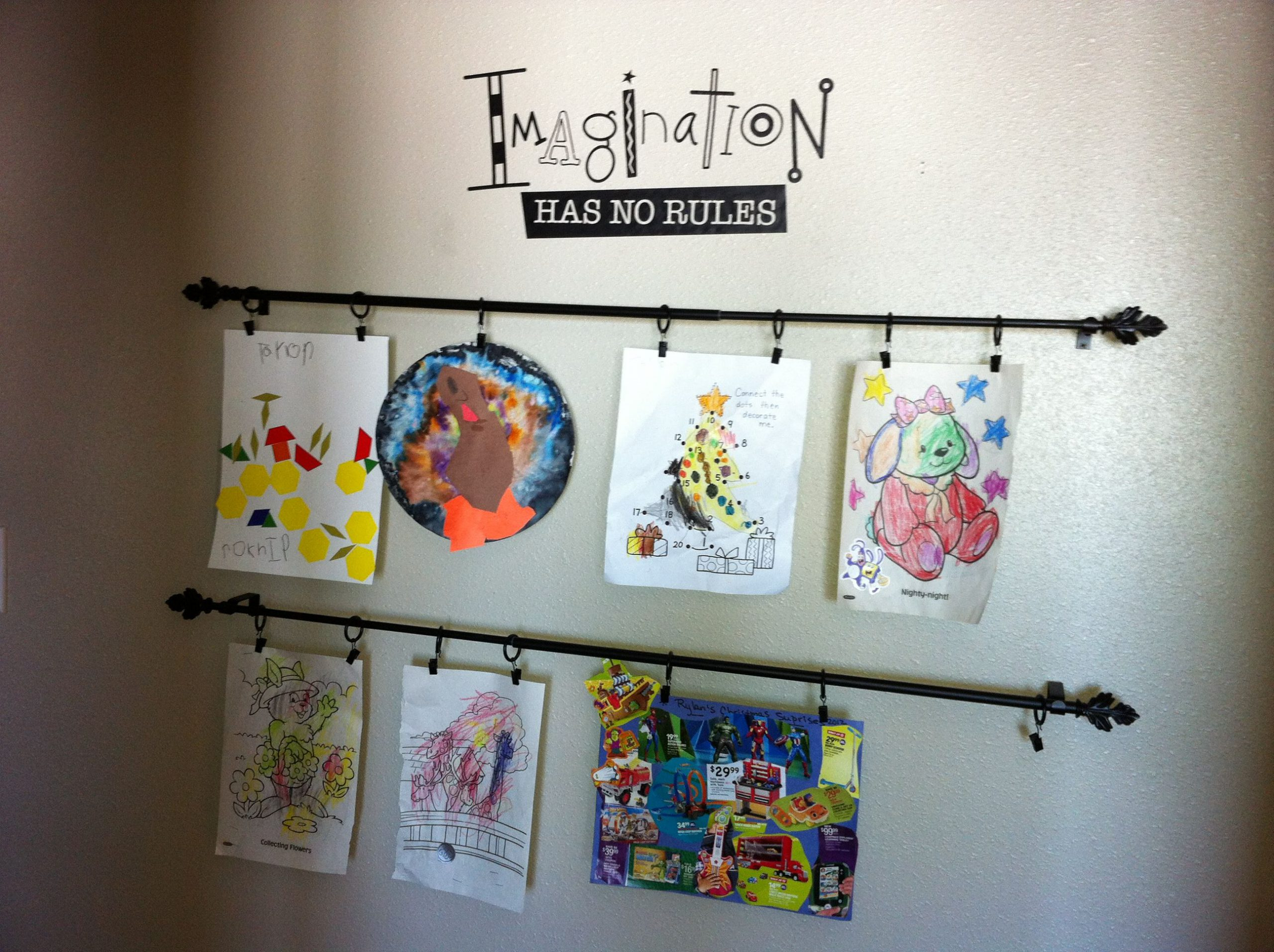 Wall Decoration from Your Children's Art